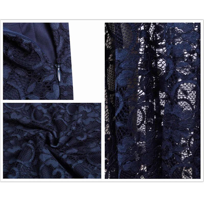 ... SEBOWEL Sexy Formal Black Bardot Lace Fishtail Maxi Dress Women Off  Shoulder Party Long Dresses Female ... f8e9838ee3fc