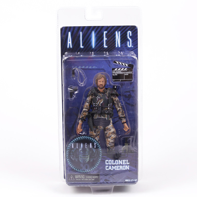 NECA ALIENS COLONEL CAMERON PVC Action Figure Collectible Model Toy 18cm neca the evil dead ash vs evil dead ash williams eligos pvc action figure collectible model toy 18cm kt3427
