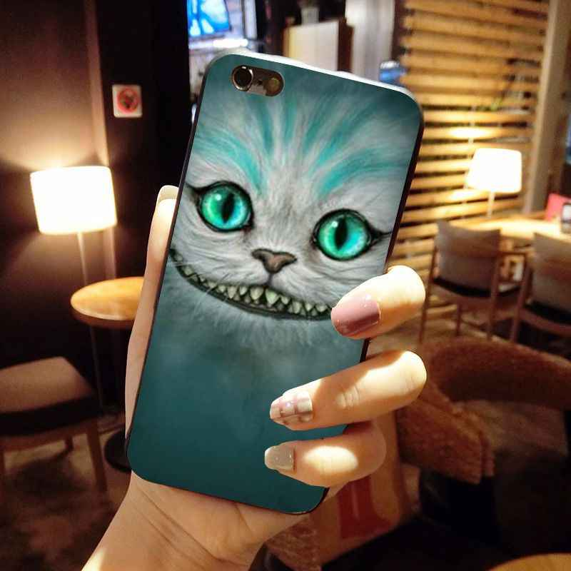 MaiYaCa Alice in Wonderland Cheshire Cat หน้ากาก Ultra บางรูปแบบโทรศัพท์กรณีสำหรับ iPhone 8 7 6 6S PLUS X 10 5 5S SE 5C Coque SHELL