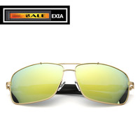 Yellow Mirror Lenses Sunglasses Men Polarized HD Vision UV400 Prescription Power EXIA OPTICAL KD 0728 Series
