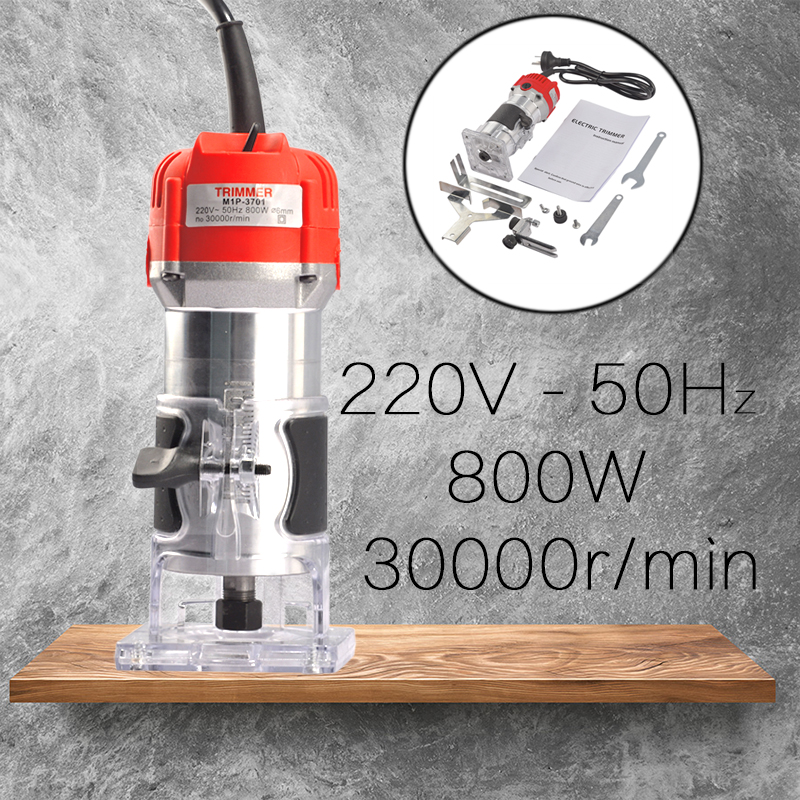Holz Elektrische Hand Trimmer 220 V 800 w 30000r/min Collet 6,35mm AU Stecker Corded Holz Laminator Router pvc-h-streifen schreiner Aluminium Power Tools
