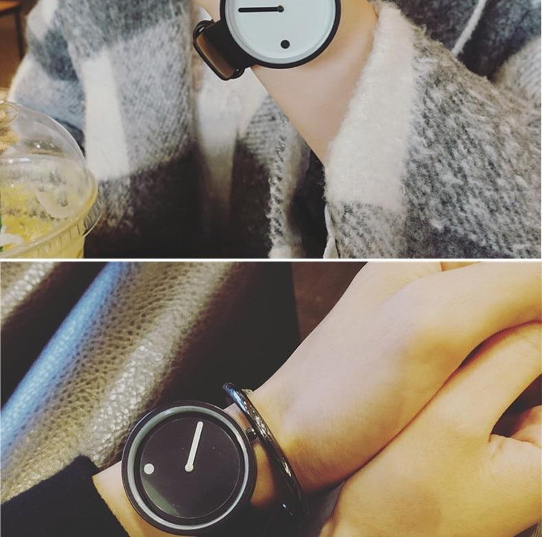 2019 Minimalist style creative wristwatches BGG black & white new design Dot and Line simple stylish quartz fashion watches gift