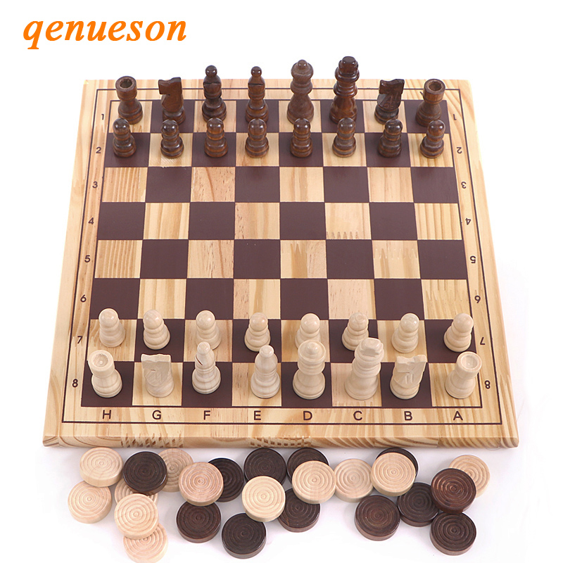 High Quality New Design 2in1 Wooden International Chess ...