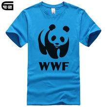 5c3a2ffb 2018 Summer Animal Print WWF Panda T-shirt cotton top Fashion Brand t shirt  men new DIY Style high quality Tee Male T162