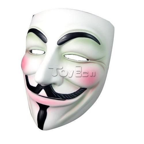 V For Vendetta Anonymous Movie Fawkes Resin Mask for Masquerade Party Halloween Cosplay Props