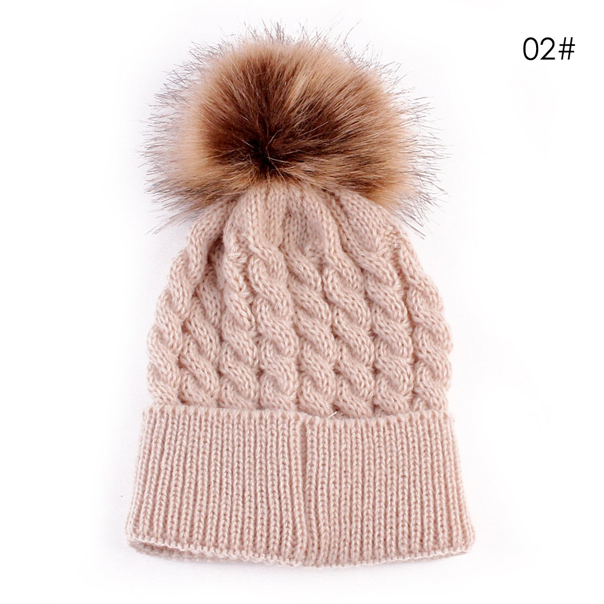 Infant Winter Warm Knit Crochet Caps Baby Beanie Hat Toddler Kid ...