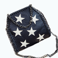 2016 Leather Chain Stella Sling For Women handbag Star Luxury Designer High Quality Stella Messenger Bags bolsa feminina couro