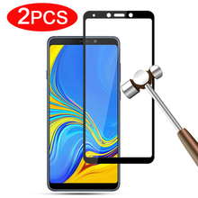 2PCS Tempered Glass For Samsung Galaxy A9 2018 glas Screen Protector Case on galaxi A 9