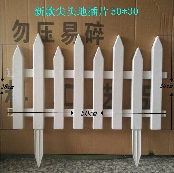 10pcslot white fence plastic fence garden fencing wholesale bigchina mainland