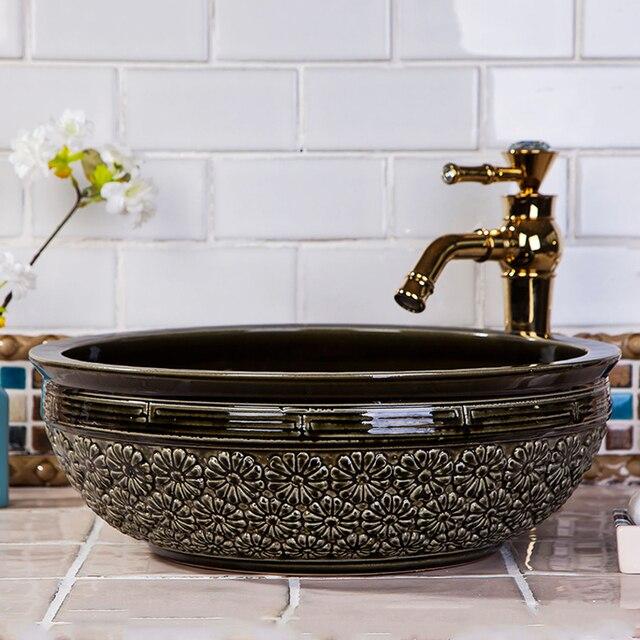 Sanitari In Ceramica Per Bagno.Sanitari In Ceramica Lavelli Controsoffitto Nero Antico Bagno Lavabo