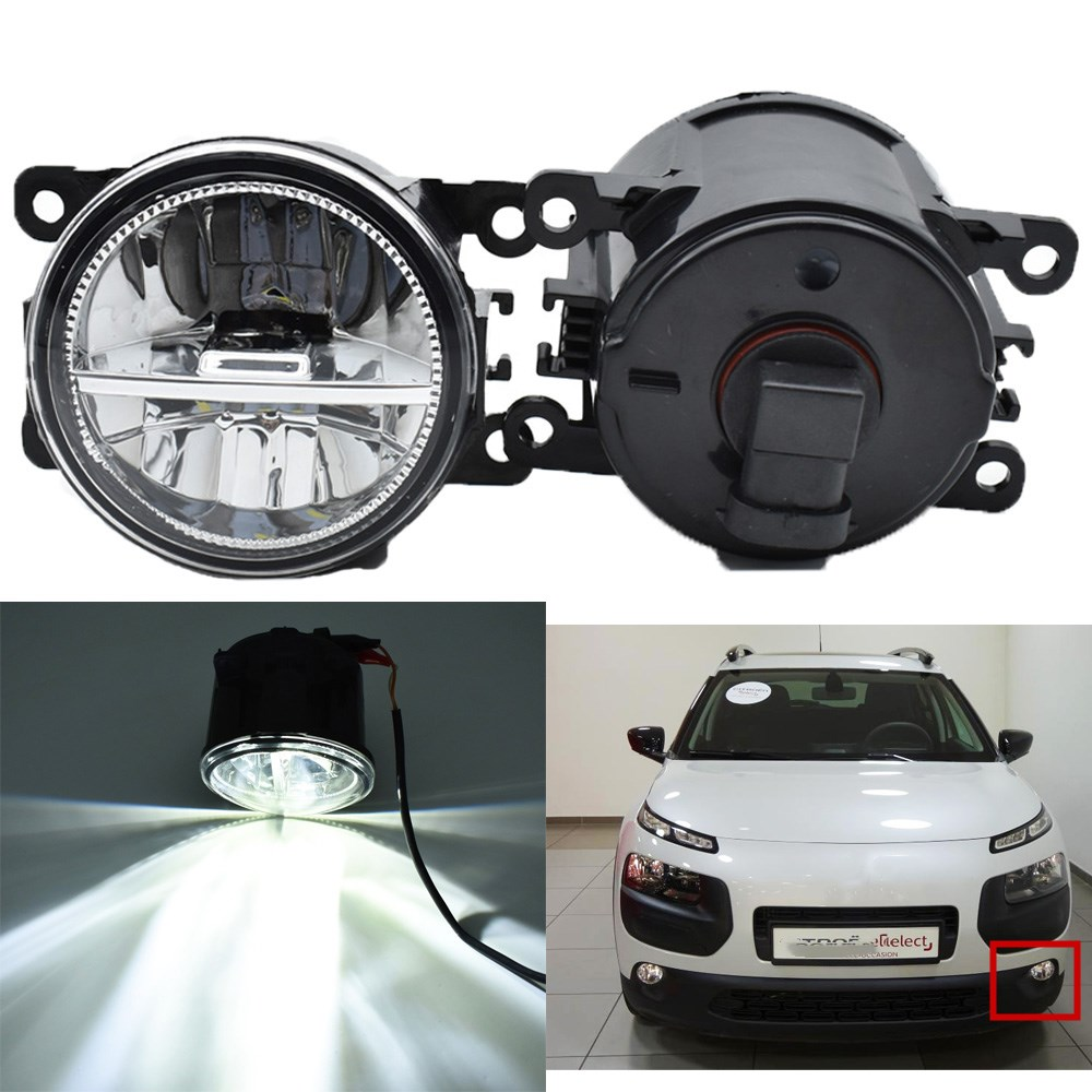 2pcs Fog Lamp Assembly Super Bright LED Fog Light For <font><b>Citroen</b></font> <font><b>C4</b></font> CACTUS 2014 2015 <font><b>2016</b></font> Halogen Fog Lights DRL Lamp image