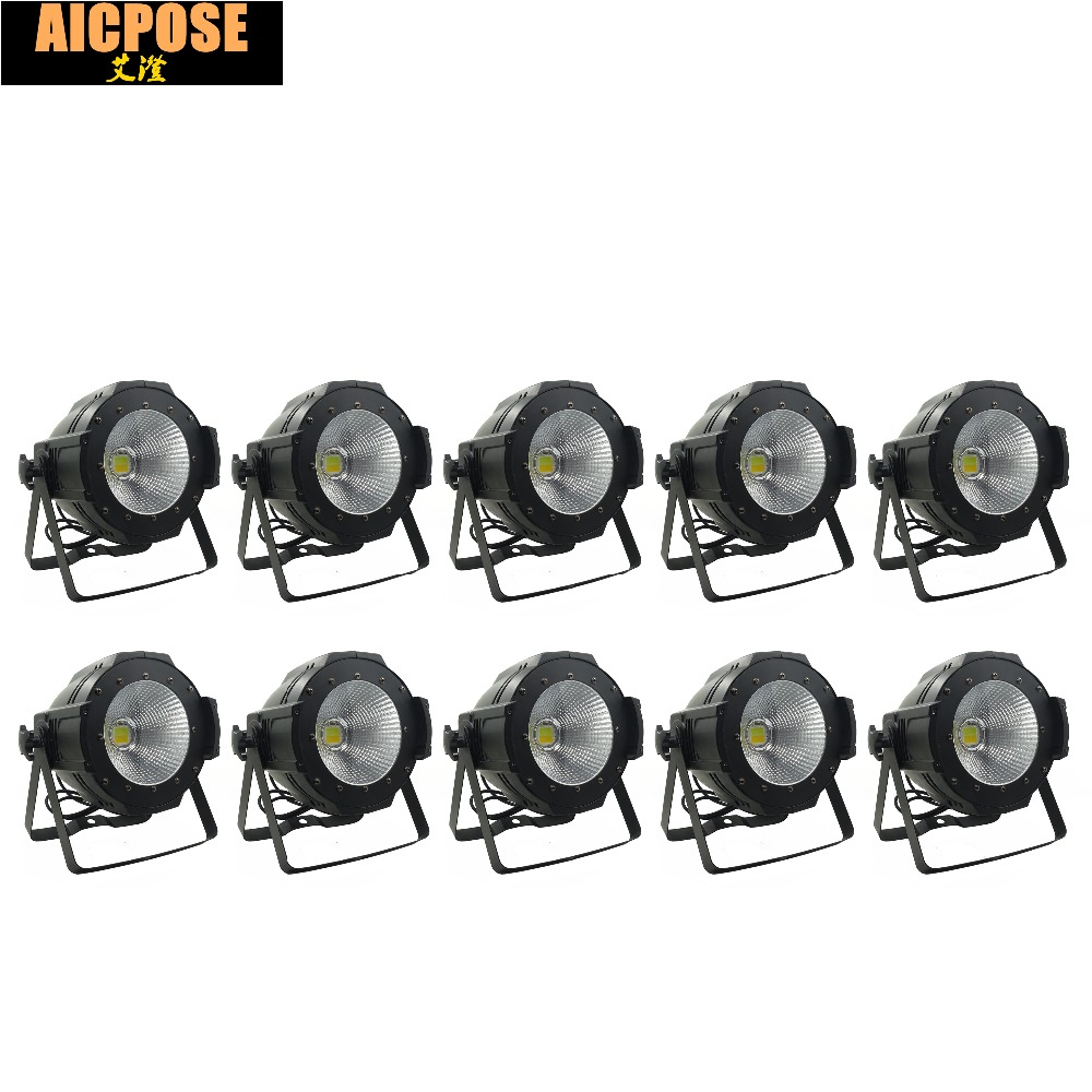 10units LED Par COB Light 100W High Power Aluminium DJ DMX Led Beam Wash Strobe Effect Stage Lighting,Cool White and Warm White freeshipping 4pcs dmx 100w cob warm yellow warm white led dj par light 100 wart dmx512 control mater slave stage lighting effect