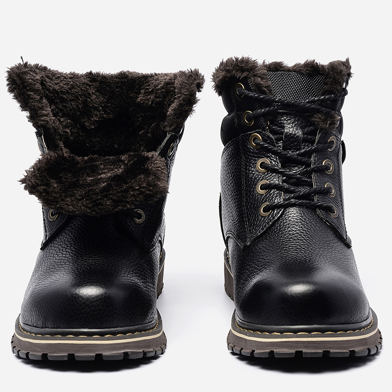 Size 38~50 Warmest Snow Boots 2018 Hecrafted Brand Russian Style Genuine Leather Men Winter Shoes #8815 warmest genuine leather snow boots size 37 50 brand russian style men winter shoes 8815