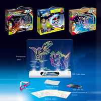 Creative Education 3D Effect Magic Drawing Board with Sea Dinosaurs Space Effect Pen Glasses Children Toys Boys Girls