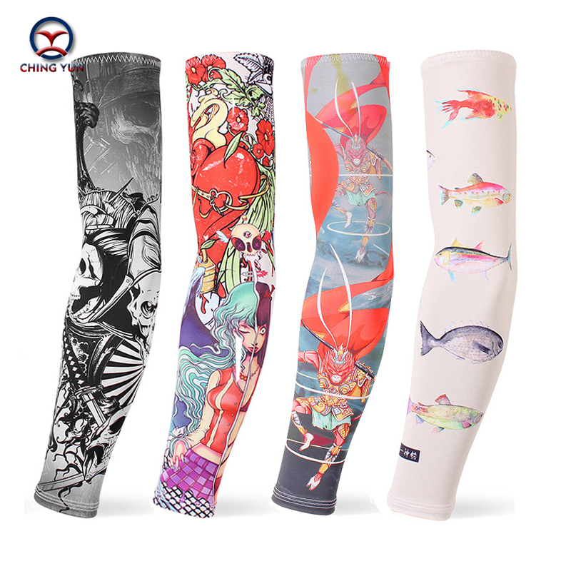 CHING YUN New Imitation Tattoo Arm Sleeve Fashion Tattoo Sleeves Arm Warmer Unisex UV Protection Outdoor Temporary 2-piece Set