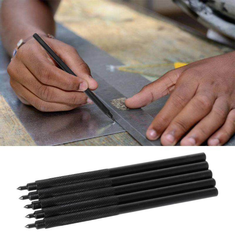 5Pcs Carbide Tip Pocket Alloy Scriber Scribe Pen For Ceramic Metal Glass Plate