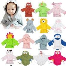16 видов стилей детский халат с капюшоном в виде животных/Детская мультяшная полотенце/детский банный халат с персонажами/банные полотенца для младенцев
