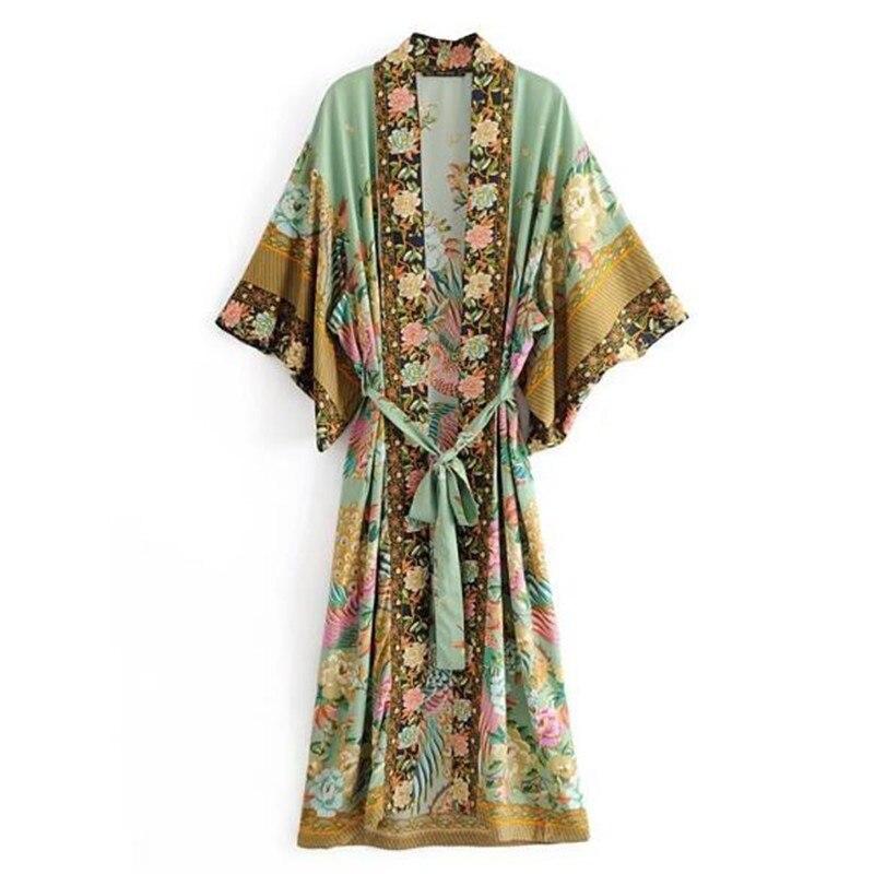 Analytical 2018 Summer Women Sleeve Loose Casual Chiffon Print Beach Blouse Shirt Cover Up Poncho Sexy Kimono Women's Clothing