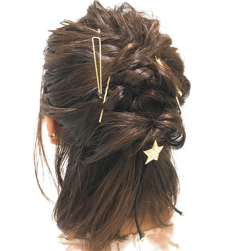 AOMU-1SET-Geometric-Irregular-Wave-Hair-Clips-for-Women-Minimalist-Metal-Gold-Color-Hairpin-Imitiation-Pearl (1)