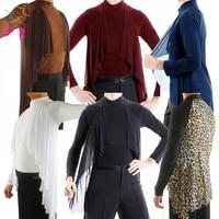 More Colors New Men'S Latin Dance Shirts Tops Adult Ballroom/Cha Cha/Salsa/ Dancing Practice Shirt Long Sleeve Clothing DL2778