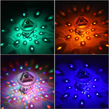 4 Colors Submersible Light Battery Operated Underwater Night Lamp Outdoor Garden Party Decoration Swimming Pool Bath LED Light