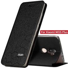 Xiaomi Mi5s Плюс случае 5.7 смарт обложка силиконовые вернуться ТПУ флип Оригинальный кожаный чехол Mofi xiaomi mi 5S Плюс чехол броня coque