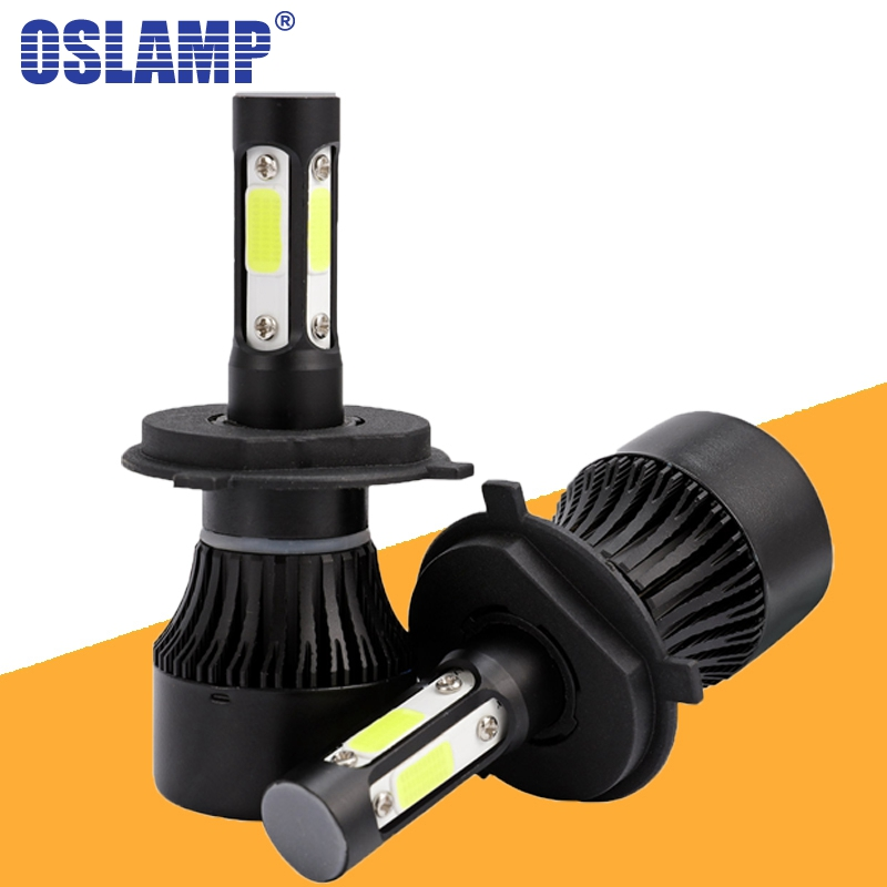 Oslamp X7 4 Sides Luminous <font><b>H4</b></font> H11 H7 9005 9006 Car <font><b>LED</b></font> <font><b>Headlight</b></font> Bulbs <font><b>100W</b></font> 1000lm Headlamp COB Chips Auto <font><b>Led</b></font> Bulb 12v image