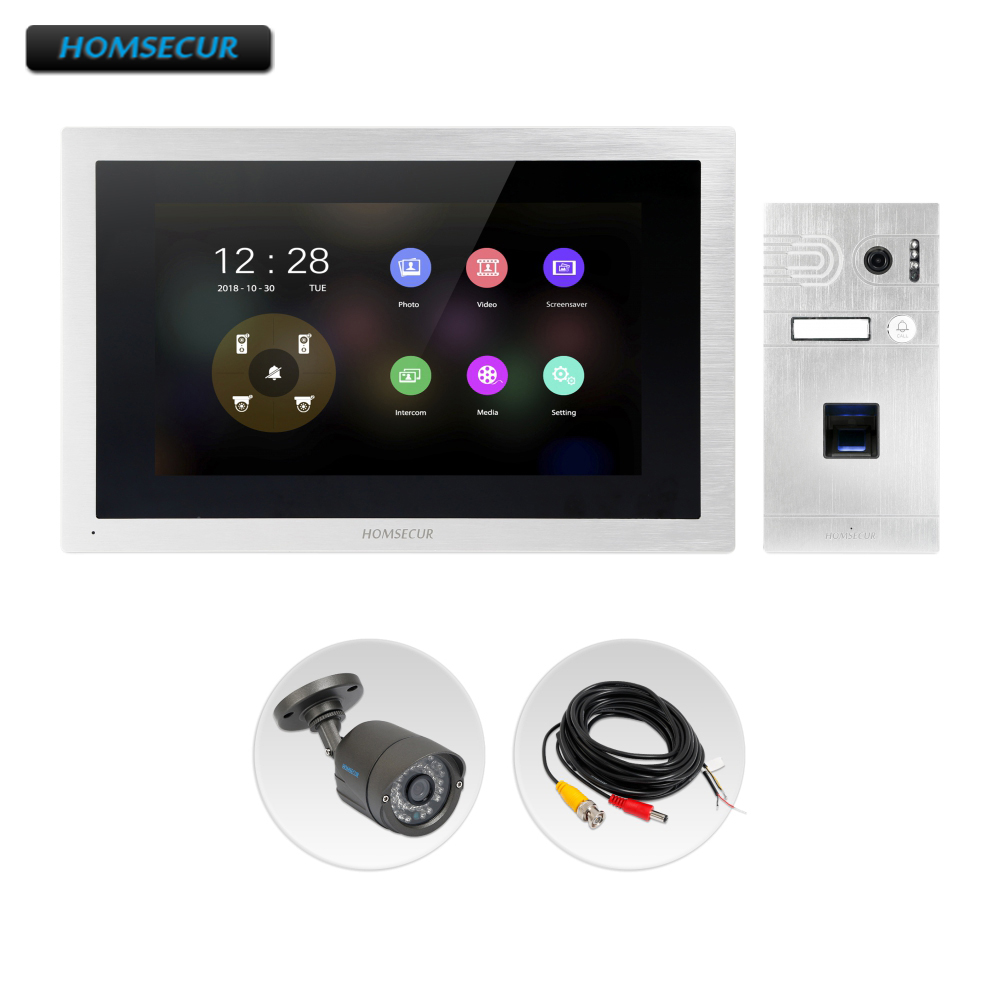 HOMSECUR 4 Wire AHD Video Door Entry Phone Call System with 1.3MP Silver Camera BC061HD-S+BM114HD-SHOMSECUR 4 Wire AHD Video Door Entry Phone Call System with 1.3MP Silver Camera BC061HD-S+BM114HD-S
