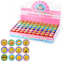 LeadingStar 60pcs Cute Stamp Cartoon Smile Face Rubber Stamps Set Plastic Rubber Self Inking Stampers Toys