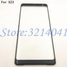 מקורי 6.0 סנטימטרים עבור Sony Xperia XZ3 קדמי זכוכית מגע מסך LCD חיצוני פנל למעלה עדשת כיסוי תיקון החלפת חלק + לוגו