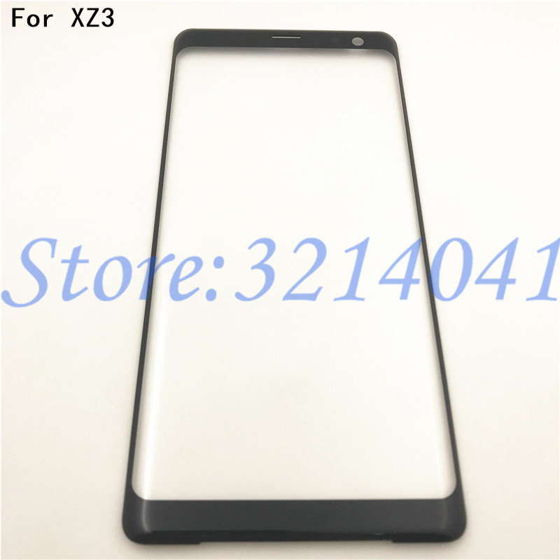 Original 6.0 Inches For Sony Xperia XZ3 Front Glass Touch Screen LCD Outer Panel Top Lens Cover Repair Replacement Part+Logo