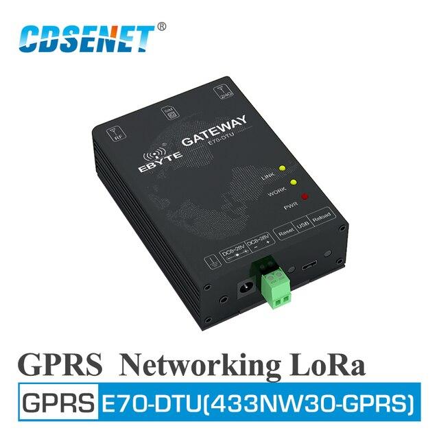 E70 DTU(433NW30 GPRS) 433MHz GPRS רשת אלחוטי מודם רכזת מסוף 30dBm ארוך טווח משדר