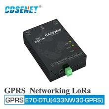 E70 DTU(433NW30 GPRS) 433MHz GPRS Terminal de MÓDEM INALÁMBRICO de red 30dBm transceptor de largo alcance
