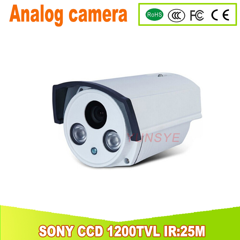 1200TVL SONY CCD Analog camera IR Cut Filter Day Night Vision home security kamera IR 25M