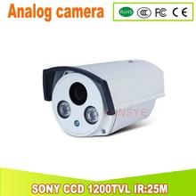1200TVL SONY CCD Analog camera IR Cut Filter Day/Night Vision home security kamera IR:25M 4MM Lens YUNSYE