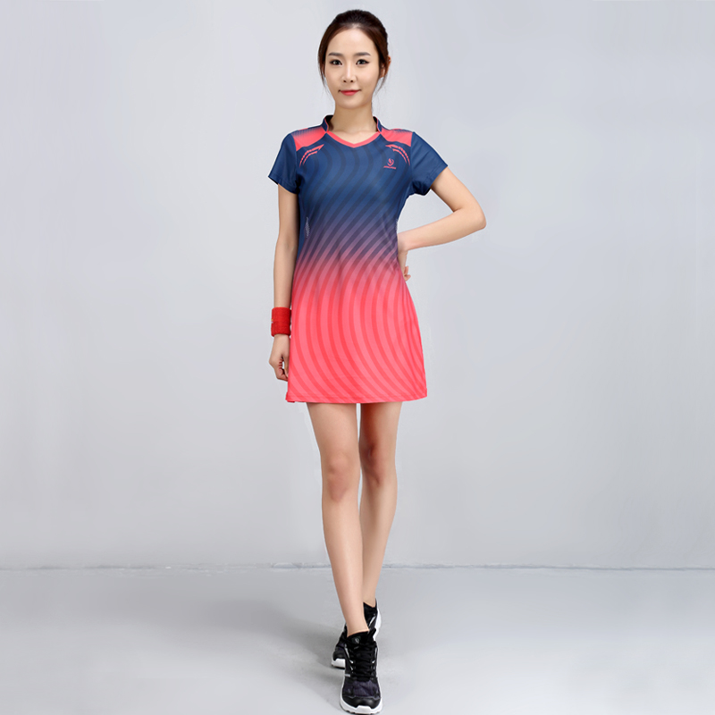 2018 Summer New Badminton Dress Women Speed Dry Badminton Suit Sports Suit Women's Dress new children s tennis badminton dress girls breathable quick drying summer tennis suit sports dress with short pants