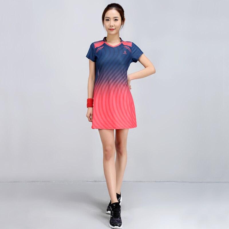 Robe de Badminton d'été femmes vitesse sèche costume de Badminton costume de sport robe de femme