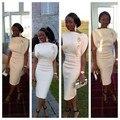 Nuevo Diseño de Vestido de Cóctel de Longitud de Té Árabe Estilo Celebrity Vestidos de Fiesta La Vaina Por Encargo Prom Vestidos