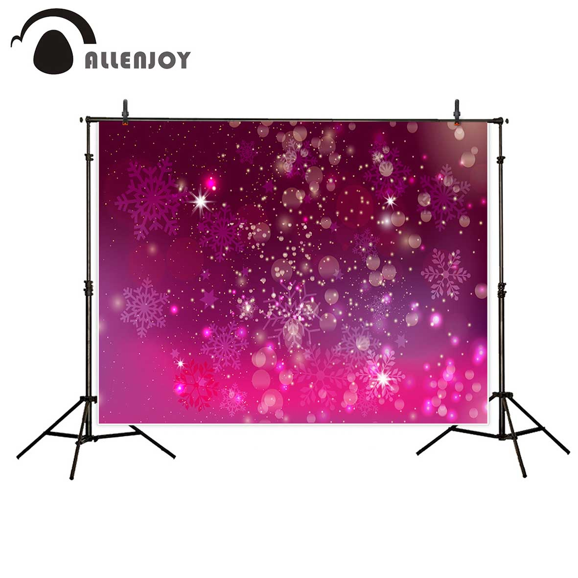 Allenjoy photography background Purple red snowflake aperture glitter Bokeh backdrop for Christmas party Photo background studio