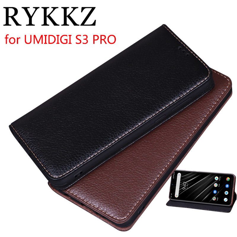 RYKKZ Luxury Leather Magnetic Flip Cover For UMIDIGI S3 PRO 6 3 Mobile Stand Case For