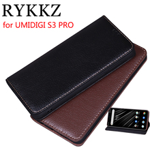 RYKKZ Luxury Leather Magnetic Flip Cover For UMIDIGI S3 PRO 6.3 Mobile Stand Case Phone