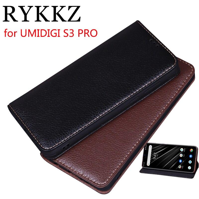 RYKKZ Luxury Leather Magnetic Flip Cover For UMIDIGI S3 PRO 6.3'' Mobile Stand Case For UMIDIGI S3 PRO Leather Phone Case Cover