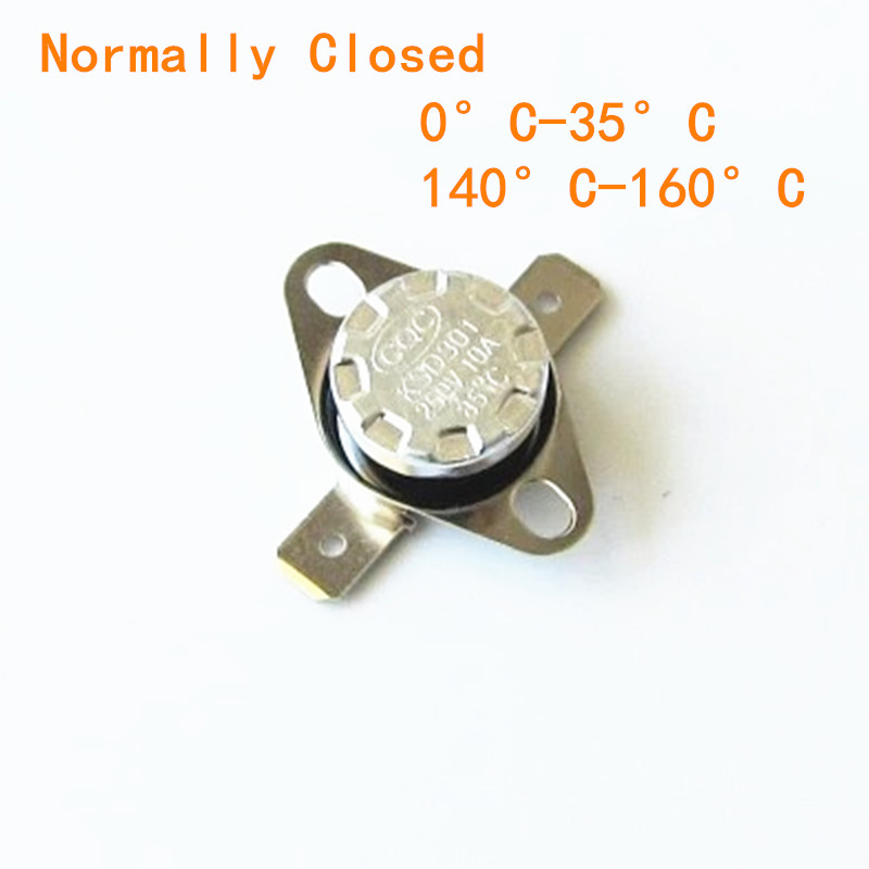 цена на 1PCS KSD301 250V 10A Normally Closed / Normally Open NC/NO Thermostat Temperature Thermal Control Switch DegC 0C-35C 140C-160C