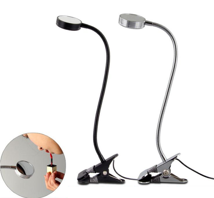 Led clip make-up mirror small Table lamp usb Power supply 5V 3W Three color change light soft light protect eyes book lamp