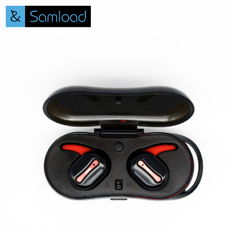 Samload TWS Bluetooth Earphone Mini Bluetooth V4.2 Headset Double True Wireless Sport Earbuds for Iphone & Android phone