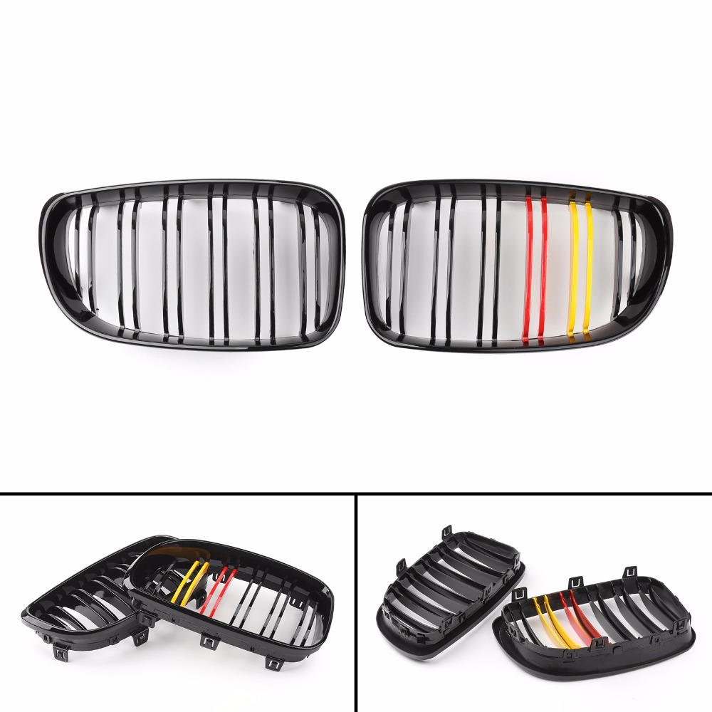 Areyourshop Car GBlack MColor Front Double Line Grille For BMW 1 Series E81 E87 E82 E88