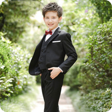 цена Custom Made Black Wedding Suit for Boys Suits for Weddings Costume Enfant Garcon Mariage Boys Blazer Jogging Garcon Kids Suits онлайн в 2017 году