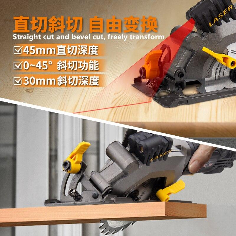 Mini cutting machine woodworking electric circular saw multi-function hand-held electric chainsaw portable flip-chip circula saw