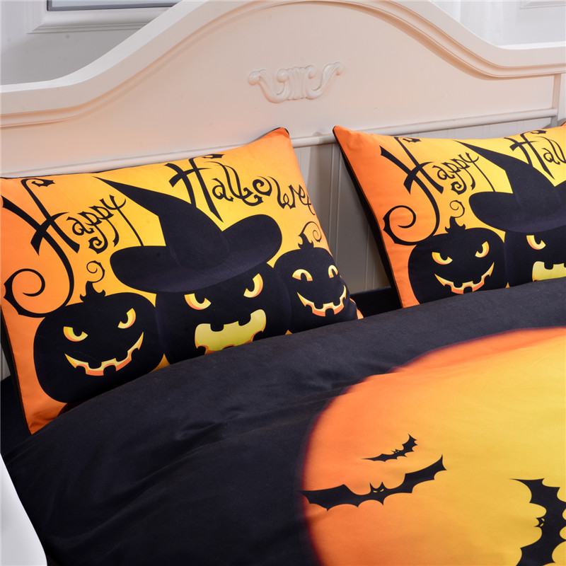 beddingoutlet halloween bedding set black and yellow duvet cover with pillowcases quilt cover for gift uk size king fashion in bedding sets from home