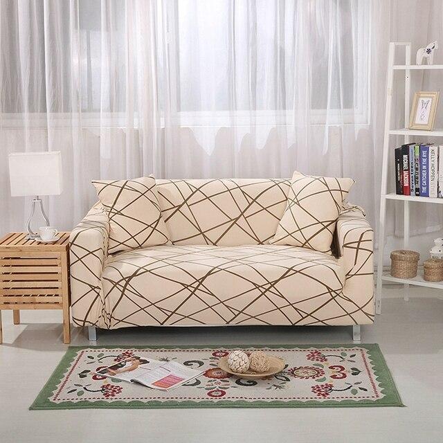 Attirant Streifen Universal Stretch Möbel Abdeckungen Für Wohnzimmer Couch Sofa Sofa  Hussen Polyester Ecksofa Hussen Plüsch